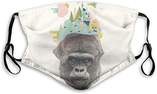 balaclava Gesichtsschutz Mundschutz Gorilla Art Nasenschutz Wiederverwendbar Waschbar Gesichts Schals Mit 6 Filtern