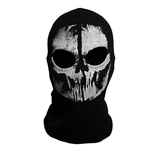 Neck mask - SODIAL(R)Round neck mask Hood Ghost Skull -Call Of Duty Modern Warfare - Airsoft Paintball motorcycle Outdoor color # 8