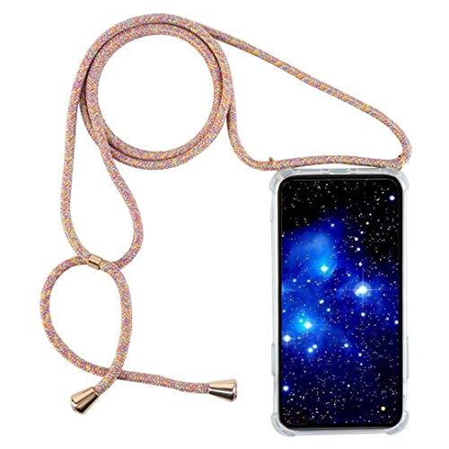 1stfee Compatible con Funda para OPPOA92020/A52020/A11 Funda para teléfono móvil con cordón Transparente TPU Diseño de Protección Anti-Shock Cover