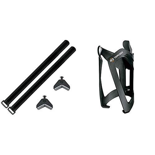 SKS Adapter Anywhere schwarz, 10 x 10 x 25 cm & Top Cage Flaschenhalter, schwarz, one Size