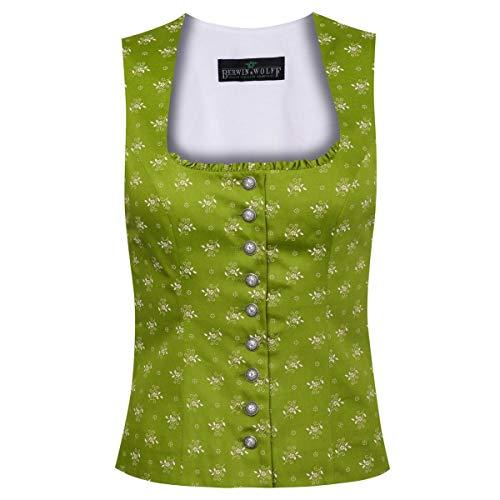 Berwin und Wolff Damen Trachten-Mode Trachtenmieder Annamirl in Grün traditionell, Größe:32, Farbe:Grün
