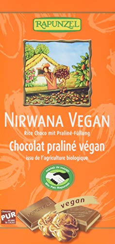 Rapunzel Nirwana vegane Schokolade mit Praliné-Füllung HIH, 100 g
