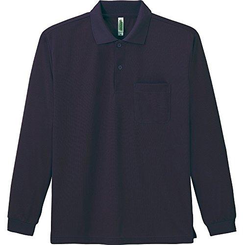 [グリマー] 4.4オンス ドライ 長袖 ポロシャツ [ポケット付] 00335-ALP メンズ ネイビー L
