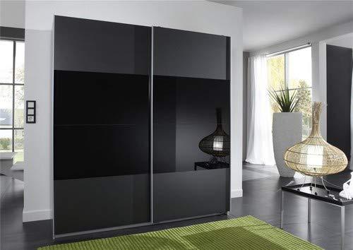 Wimex Kleiderschrank/ Schwebetürenschrank Enter, 2 Türen, (B/H/T) 135 x 198 x 64 cm, Schwarz