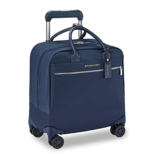 Briggs & Riley Rhapsody Softside Underseat Carry On Cabin Spinner, Navy, 17-Inch