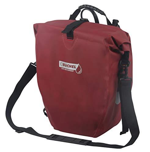 Büchel Unisex– Erwachsene, Merlot, Fahrradtasche für Gepäckträger, 100 Prozent wasserdicht, Schultergurt, 81518003