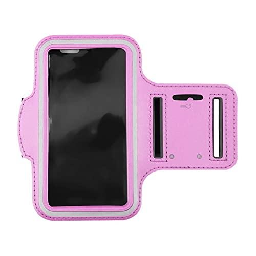 Haowen Estuche para Brazalete para teléfono para Correr Portatarjetas Deportivo Resistente al Agua para iPhone 6 / 6S Rosa M
