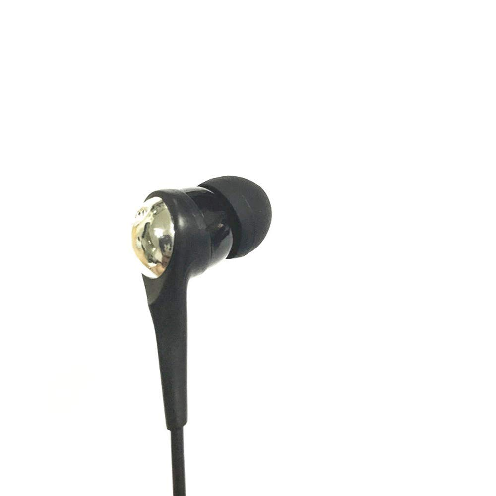 Single-Side Earphone Economical Mono Earbuds in Ear Noise Isolating Headphone, Reinforced Cord