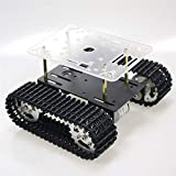 YCKJ Professional Smart Robot Tank Car Chassis Kit for Arduino, Tracked Car Platform for Raspberry Pie/MicroBit with 33GB-520 DC Motor to DIY Robot Toy Part STEAM Education ROS Science Experiment