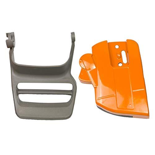 Fenteer 2pcs embrague de freno protector de mano cubierta Kit apto para Husqvarna 340, 345, 350 motosierra accesorios 537107801
