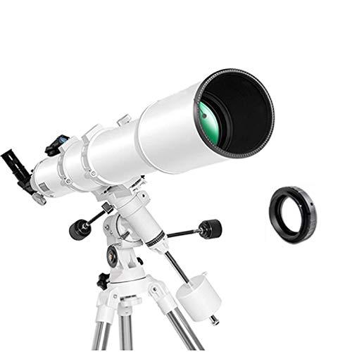 Telescopio astronómico grande de 102 mm para profesionales, refractor espacial ultra claro para niños, monocular de viaje, cielo, adultos, monoscopio para niños, regalo de Navidad, color blanco, E