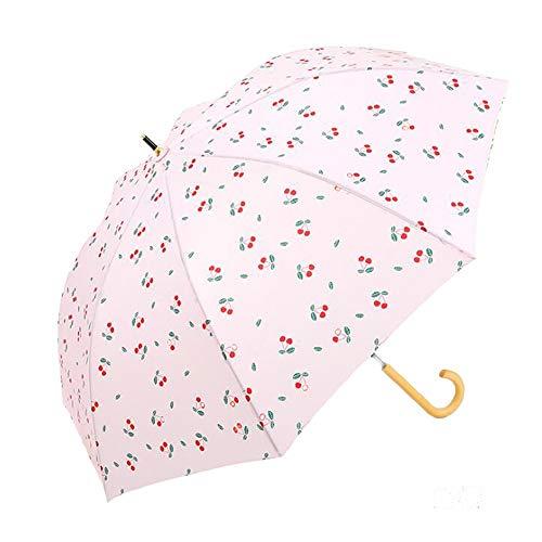 Yi-xir Komfortable Erfahrung Damen Neue abgesaugte Lange Griff der Frauen Einfache Massive Kreative Holzgriff Retro Kunst Regenschirm Kompakter Reiseschirm (Color : 3)