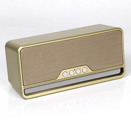 ZJHNZS Altavoz Bluetooth Altavoz inalámbrico Bluetooth subwoofer Ebay Mini teléfono móvil Tarjeta multifunción Fabricantes de Audio Especiales, Oro