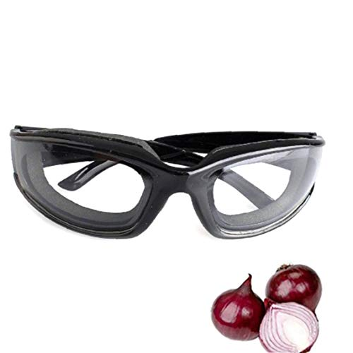Rrunzfon 1pc Creative Kitchen vidrios Protectores con Efecto antideslumbrante Gafas Especiales para Herramientas de Corte cebollas Inicio de Cocina Negro Guapo Accesorios para el hogar