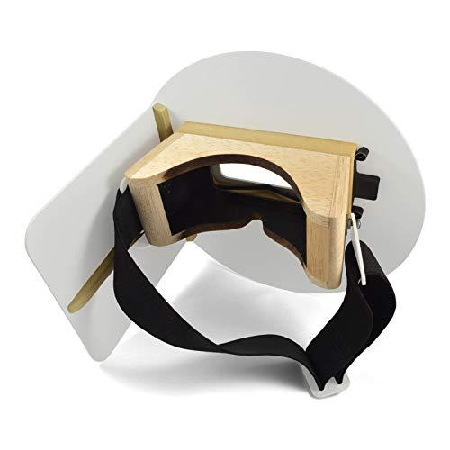 Wendy's Pancake Welding Hood Helmet w/Strap - Right Handed - White