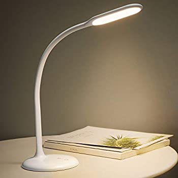 Cordless Lamp Gladle LED Desk Lamp Battery Operated Table Lamps Rechargeable Dimmable Reading Light with Timer Adjustable Gooseneck Touch Lamp for Office USB Charging Port  White