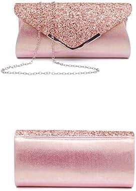 Liuhong Crossbody Kupplung Geldbörse für Frauen, Glitter Abend Tasche, Pailletten Hochzeit Handtasche für Party