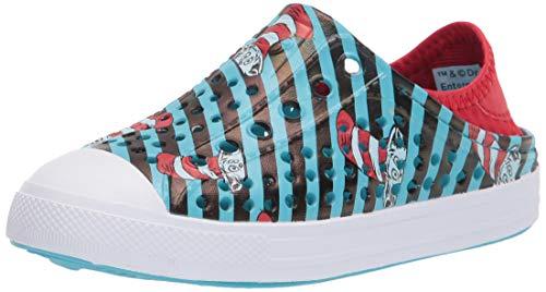 Skechers Guzman Steps Dr. Seuss Cat in The Hat - Gorro para niña (espumas Guzman Steps), Negro, Rojo y Azul, 12 Big Kid