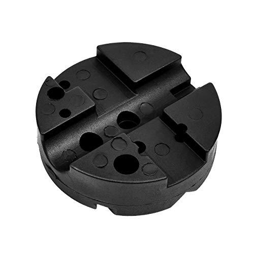 DEDC Bench Block Universal Gun Benchblock Zweiseitiges Werkzeug mit Rutschfester Matte für PistolenPistolenbüchsenmacher Werkzeuge, Durchmesser 1 1/4 Zoll H x 4 Zoll