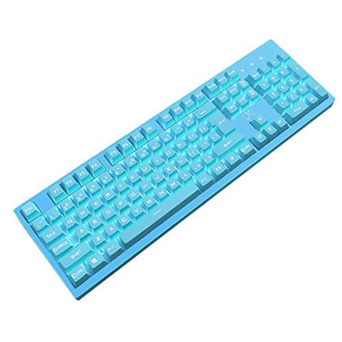 Keycaps Tastiera P-BT Copritasti con apertura 104 Chiavi Wird tastiera for gioco Keyboad PC Laptop for Tablet Computer (Color : Blue)