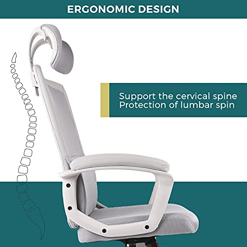 Office Chair, Ergonomic Mesh Home Office Computer Chair