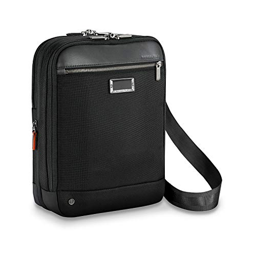Briggs und Riley Small Expandable Crossbody Aktentasche, 31 cm, 10.4 liters, Schwarz