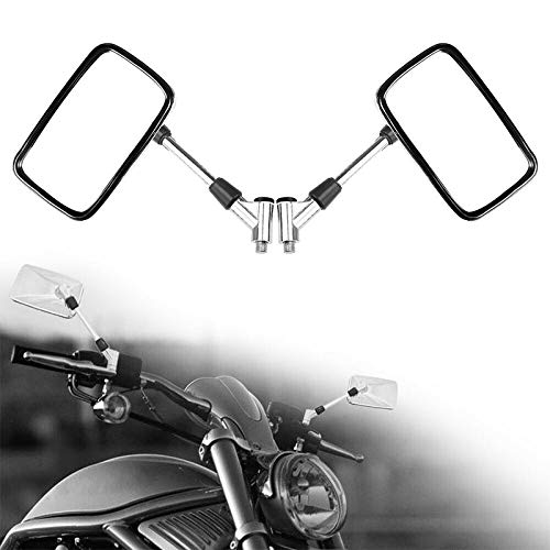 SRY HHUI-HOUSHI, 1pair Espejo retrovisor de Montaje del Manillar de 10 mm for la Motocicleta Vespa del ciclomotor ATV Dirt Bike Espejos retrovisores Reverso de Moto