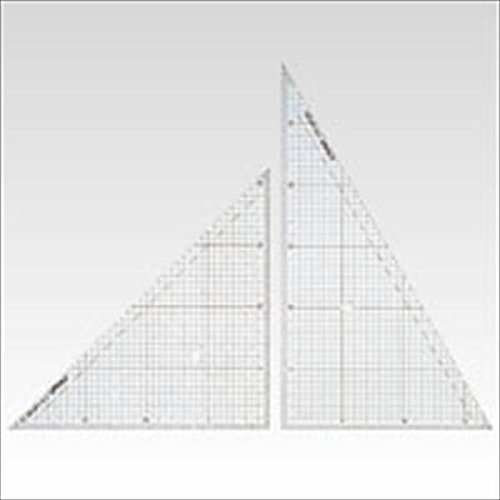 方眼三角定規(ノングレアタイプ)30cm型 1セット CR-HR300