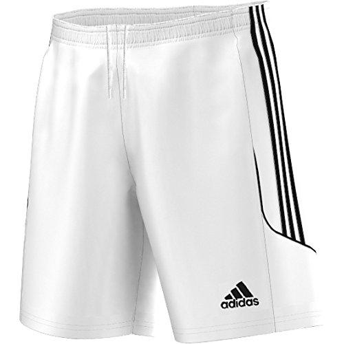 adidas Squadra 13Pantaloncini da Calcio, Senza Slip Interno, Uomo, Fußballshorts Squadra 13 ohne Innenslip, White - White/Black, L