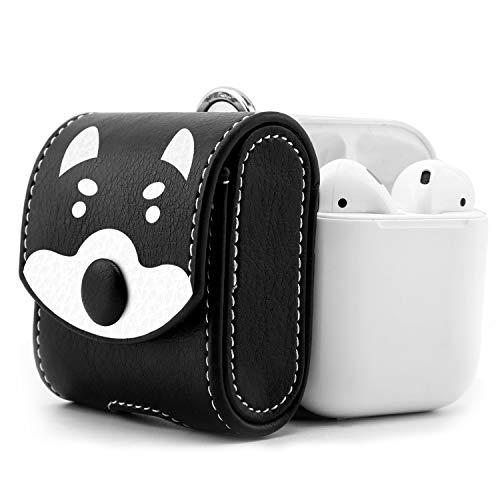MoKo Kompatibel mit AirPods 1 Kopfhöhrer Tasche, Portable Tragetasche Reisetasche Schutzbox Schutzhülle Hülle Schutztasche mit Handschlaufe & Reißverschluss für AirPods Ladekoffer, Panda