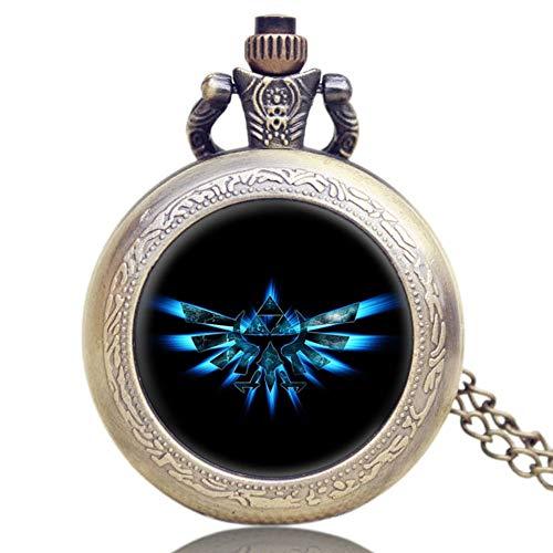 Herren Taschenuhr, Legend of Zelda Uhren, Quarz-Design, Cartoon-Stil, Geschenk für Männer