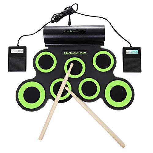 Buy Discount Donteec Electronic Drum Kit, Portable Digital Electronic Drum Kit 7 Drum Pad Built-in S...