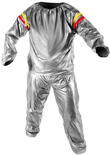 ISO TRADE Saunaanzug Schwitzanzug Sauna Suit für Fitness Schweissanzug 909, Größe:XXL