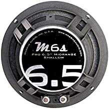 Massive Audio M6S MS Series. 6.5 Inch, 300 Watts, 4 Ohm Pro Audio Midrange Shallow Mount Speaker for Cars, Stage and DJ Applications. Sold Individually.