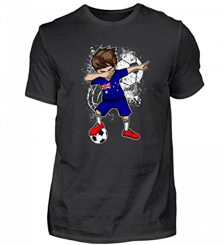 Hochwertiges Herren Shirt - Dabbender Fußballer Junge - Australien/Fußball Trikot/Nationalmannschaft/Geschenk WM