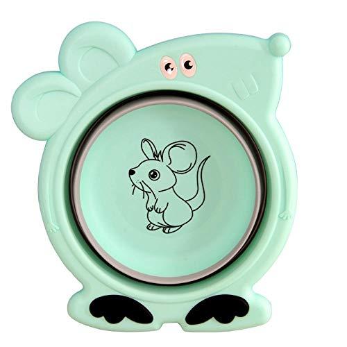 Hadristrasek Tina Plegable Tina Plegable para Platos Bebé Plegable niños de Dibujos Animados Lavabo bañera casa de Color Rosa-telescópica portátil (Color : Green)