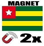 SAFIRMES 2 x Togo Flagge Magnet 6 x 3 cm Magnet Deko Togo Magnet Kühlschrank