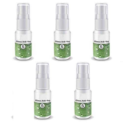 Eksesor 20 ml anti-condens-spray, anti-condens-spray, brillenreiniger, voor autobrillen, spiegels, zwembrillen, 5 stuks