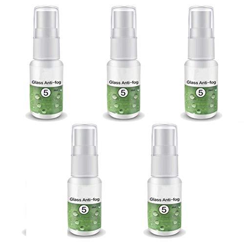 MeiLiu 5 Stück Antibeschlag Spray, 20 ml, einfach zu verwenden, Anti Fog Behandlung für Brillen, Schutzbrillen, Skimasken Spiegel, Autoglas, Fenster, Verhindert Beschlagen, Sicherheitsschutz