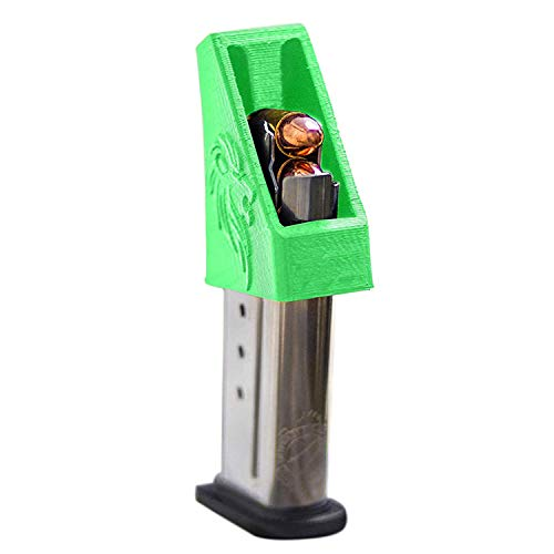 RAEIND Magazine Speedloader for M&P Shield, Springfield XD-S, Ruger LCP, Sig 938, All Colt 1911 Single Stack, 9mm, 40, 45 ACP Pistols (RAE-702) (Green)