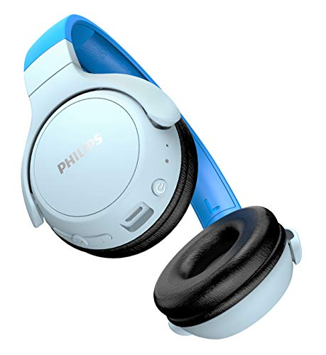 Philips Audio Philips Kinderkopfhörer KH402BL/00 Wireless On Ear Kopfhörer (Bluetooth, 85 db, 20 Stunden Spielzeit, LED Panel, weiche Ohrpolster) Blau, TAKH402BL/00, One Size