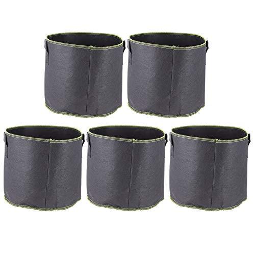 DOITOOL Galão 5Pcs 5 Batata Crescer Sacos de Tecido Não-Tecido Sacos de Jardim Vasos de Flores Vegetais Planter Bag Com Alças para O Plantio de Batata Cebola Cenoura Taro Rabanete