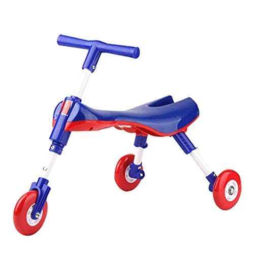 Draagbare opvouwbare baby Walker Loopfiets Speelgoed for peuters 1-3 jaar Ride on auto Driewieler Kids Scooter Fiets sudaijins (Color : A)