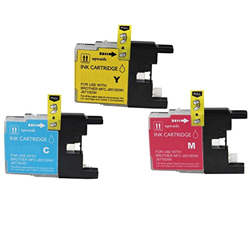 Generic Compatible High Yield Ink Cartridge Replacements for Brother LC75, BK 5-Pack