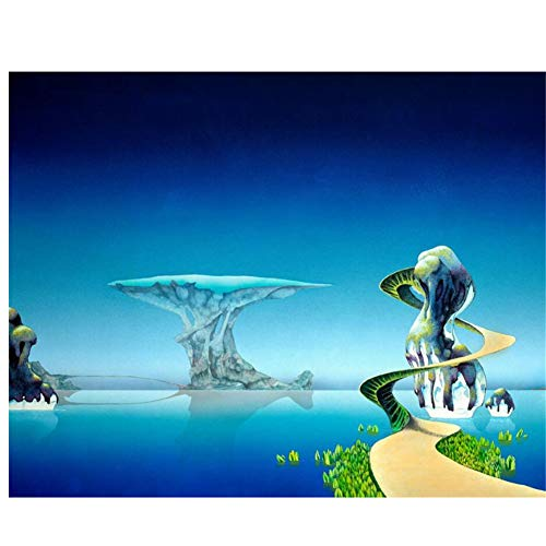 nr Roger Dean Print on Canvas Wall Picture  Poster Canvas Paintings, murals Living Room Wall Decoration 24x36 IN No Frame
