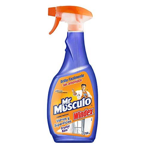 Mr Músculo Limpiador de Ventanas Windex Crystal Rain, 750 ml
