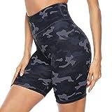 Persit Pantalones cortos de yoga para mujer de talle alto con bolsillo para gimnasio, entrenamiento,...