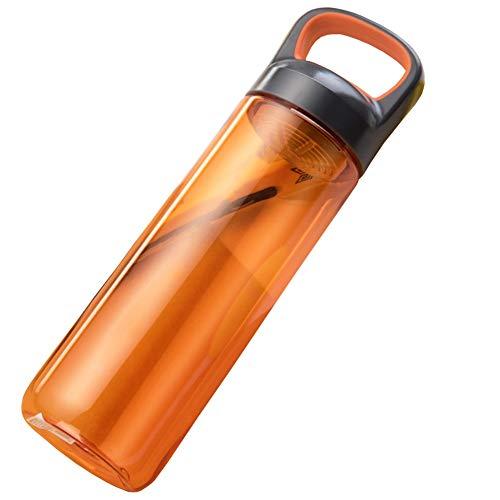 Voyage Tasse Mode Créatif Tasse Portable Coupe Sports De Plein Air Tasse De Randonnée Randonnée Isolation Bouteille D'eau Multicolore En Option WEIYV (Couleur : Orange, taille : 25 * 7cm)