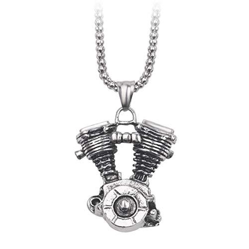 Amoyer Mens-halsketten-halskettenpunkhalsketten-Legierung Hängende Langkettige Geschenk Für Motorrad Schmuck Dekoration