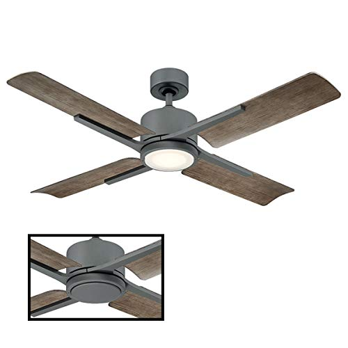 Cervates Indoor/Outdoor 4-Blade Smart Ceiling Fan 56in Graphite with 3000K LED Light Kit...